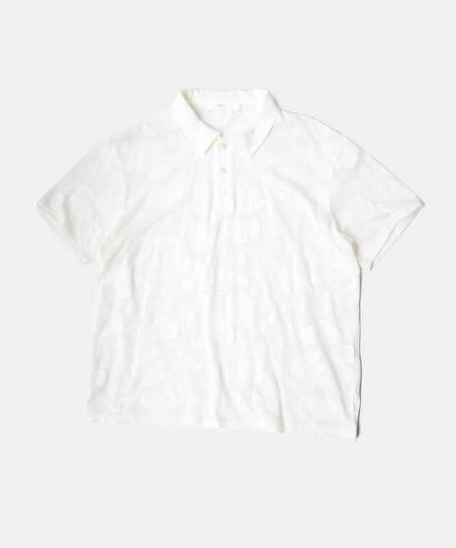 seya ESSENTIAL POLO/JAPANESE LACE JERSEY WHITE