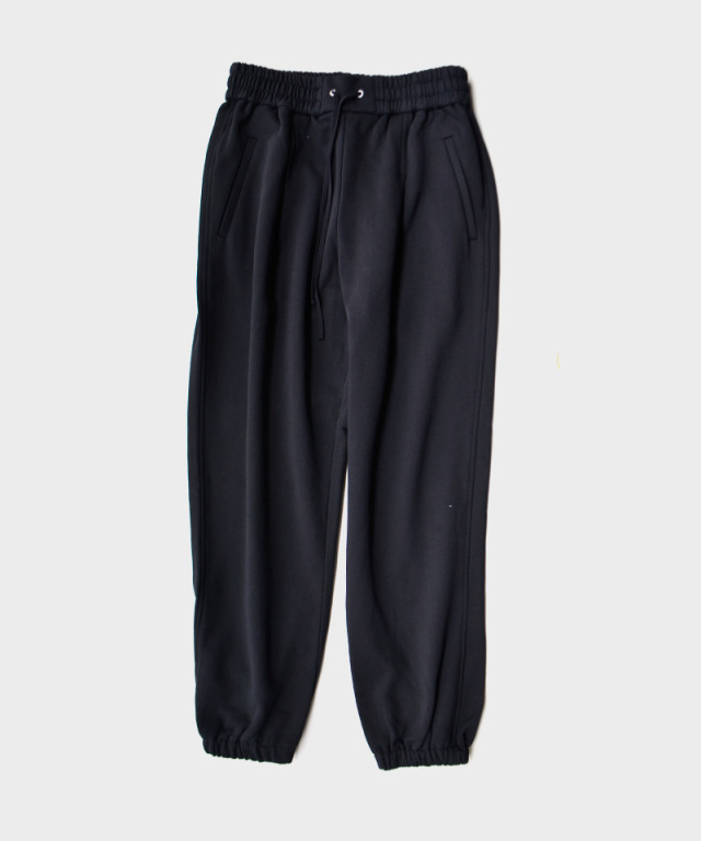 3.1 Phillip Lim FRENCH TERRY DRAWSTRING SWEAT PANTS W FRONT PLEAT BLACK