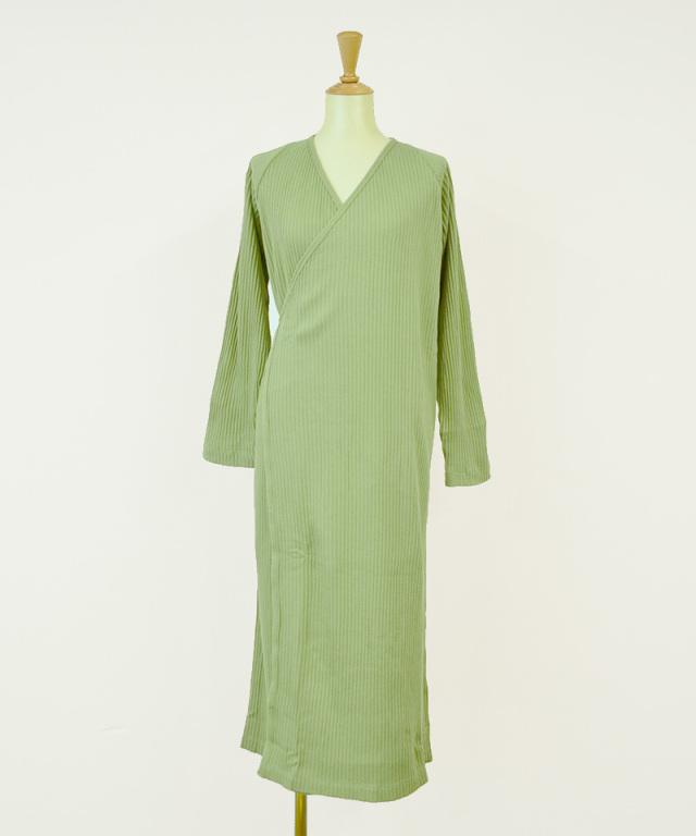 BASERANGE CLEAT DRESS WITH SLEEVE ERO GREEN