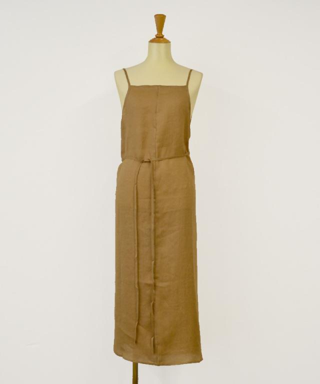 BASERANGE YUMI APRON DRESS KHATA BROWN