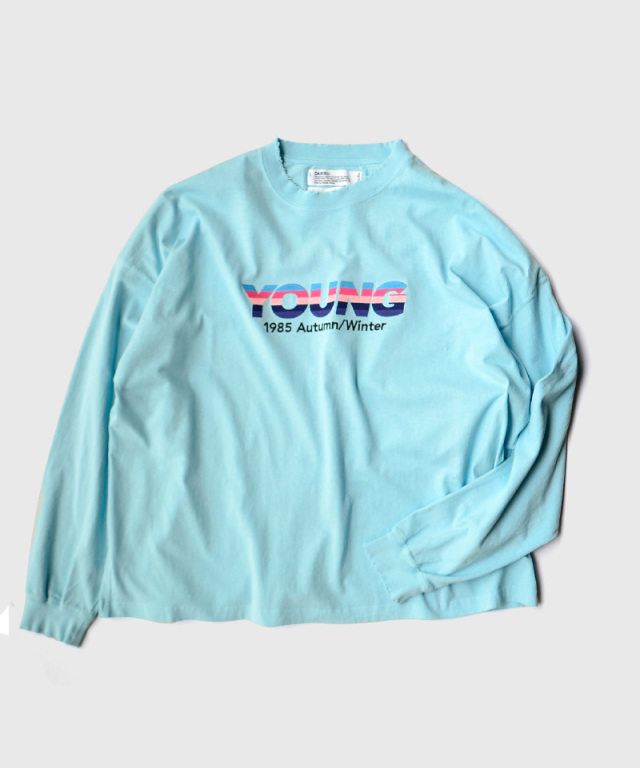 DAIRIKU YOUNG Embroidery Tee Youth Blue