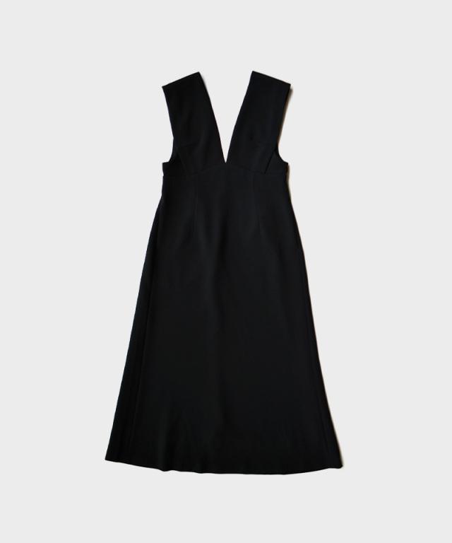 mame V Neck Sleeveless Dress BLACK