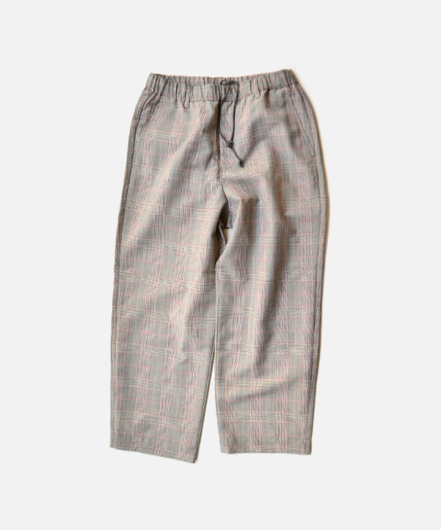 HEALTH EASY PANTS#3 ブラウン×レッドチェック