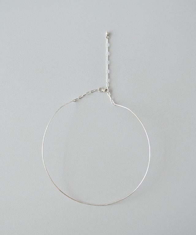 CINQ Minimalist neck cuff sterling silver