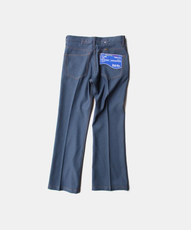 DAIRIKU Flare Flasher Pressed Pants Navy