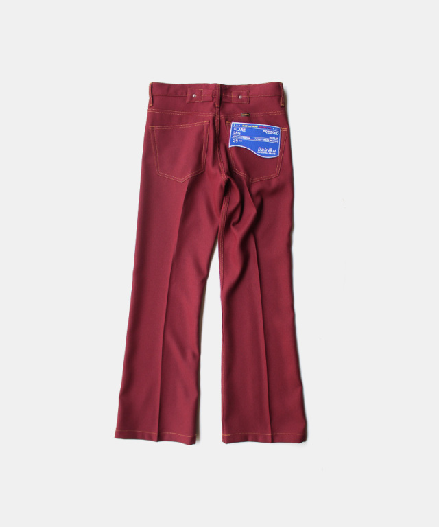 DAIRIKU Flare Flasher Pressed Pants Bodreaux