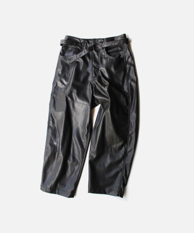 saby SUPER BIG PANTS -WASHABLE LAMB TOUCH SKIN- BLACK