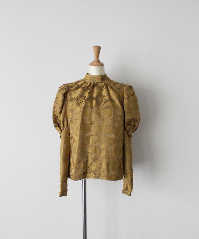 ERiKO KATORi flower jaquard puffsleeve blouse MUS