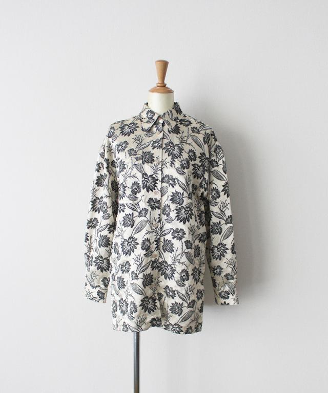 ERiKO KATORi flower jaquard standard shirt IVO