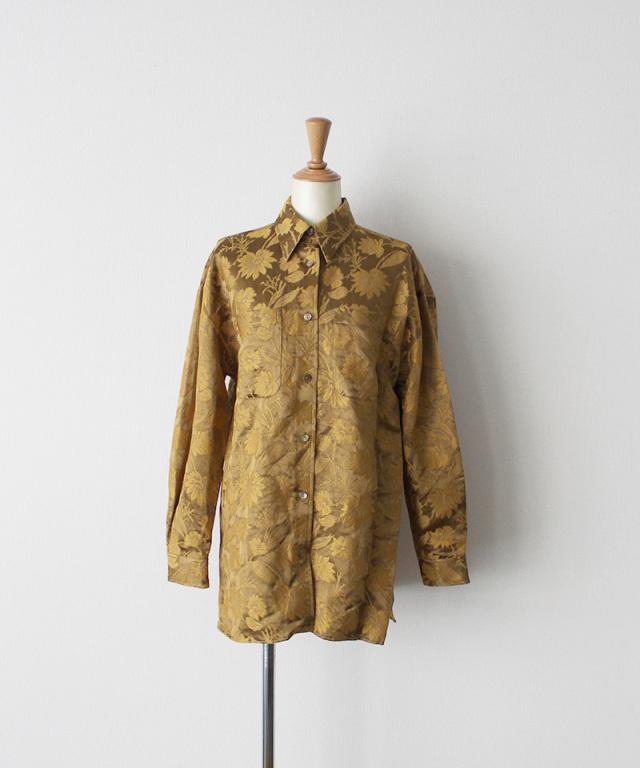 ERiKO KATORi flower jaquard standard shirt MUS