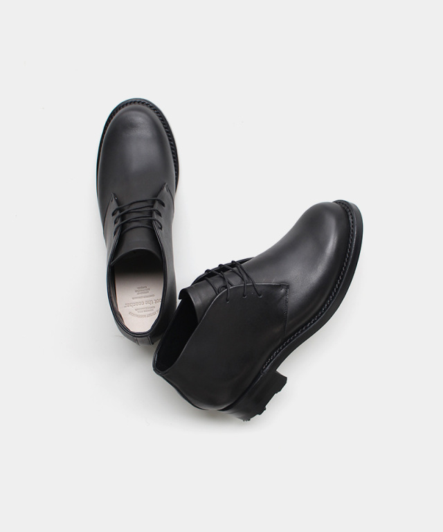 foot the coacher MIDDLE-CUT SEAMLES BOOTS BLACK