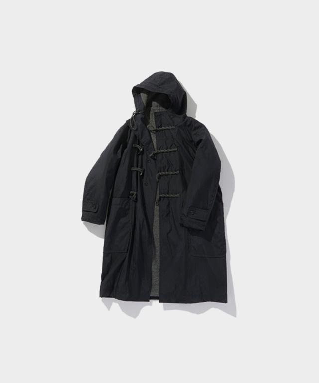 POLYPLOID DUFFLE COAT C BLACK MELANGE