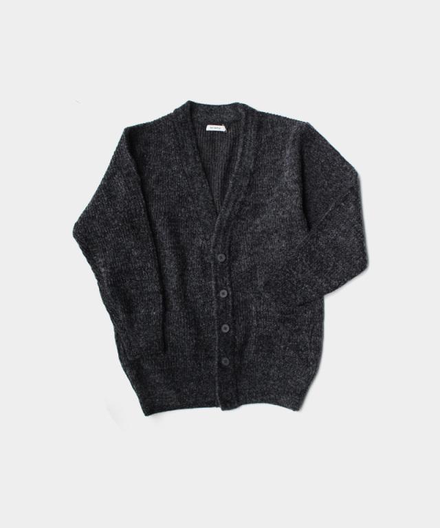 MATSUFUJI Melange Kint long Cardigan BLACK
