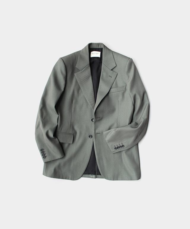 beautiful people c/w gabardine single jacket smoke grn