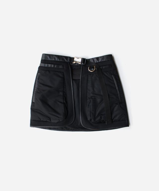 mame kurogouchi Osmanthus Motif Jacquard Skirt Bag BLACK
