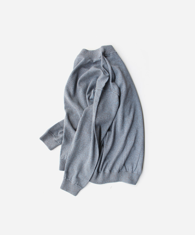 crepuscule Moss stitch L/S sweat Gray