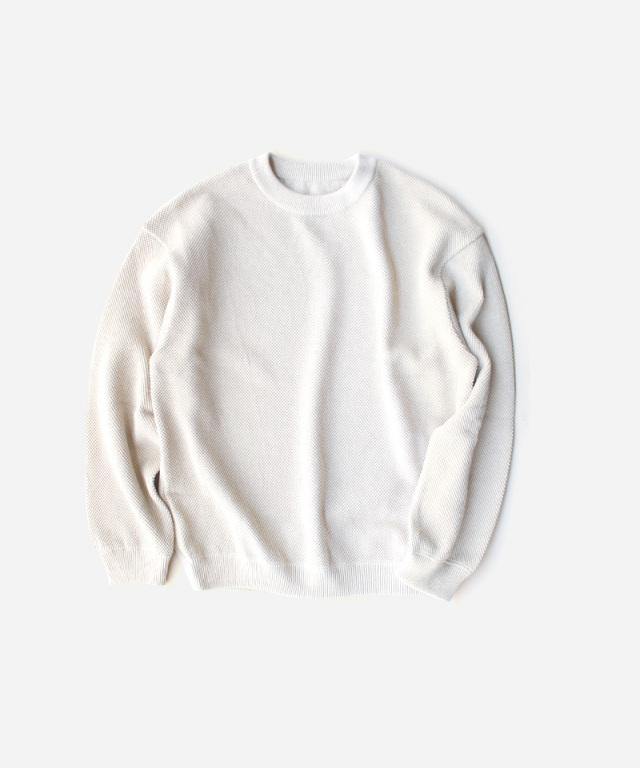 crepuscule Moss stitch L/S sweat White