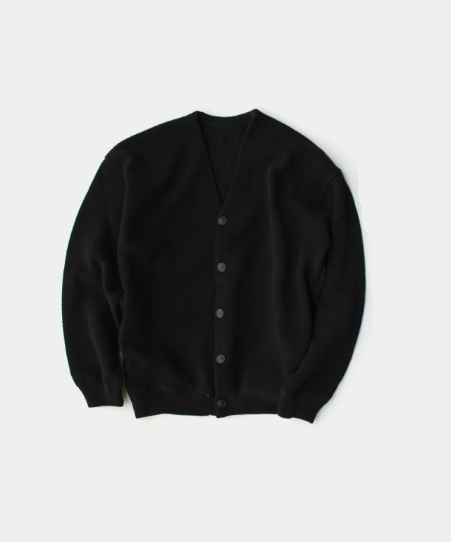 crepuscule Moss stitch V/N cardigan Black
