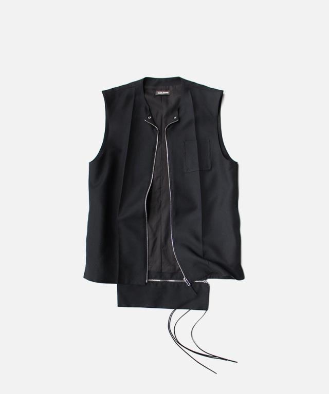 NULABEL WORK DRESS VEST BLACK