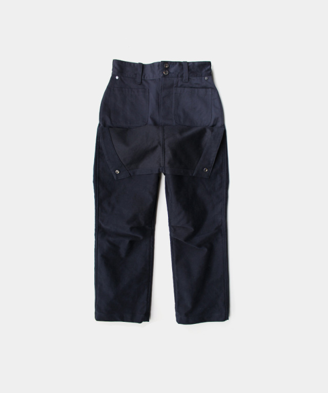 QUILP Motorcycle trouser NAVY Mole Skin