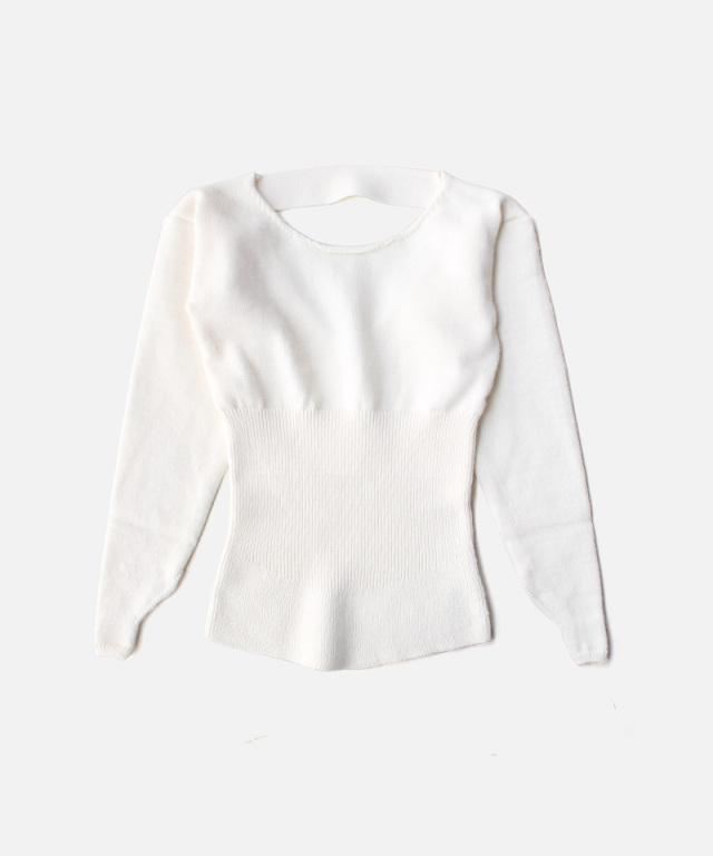 TAN SPONDISH MOHAIR CORSET TOPS WHITE