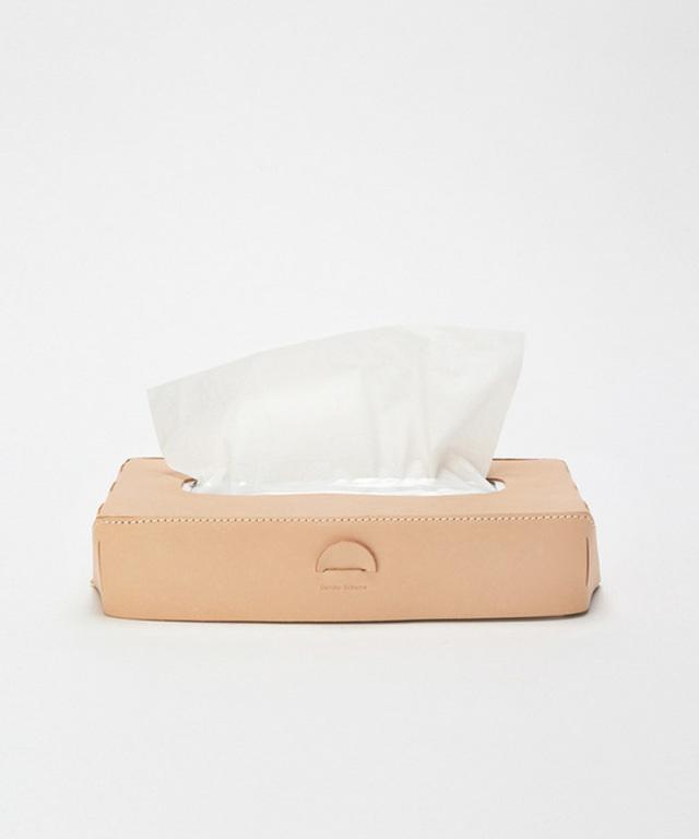 Hender Scheme tissue box case natural