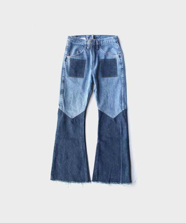 77circa flare pants blue-A