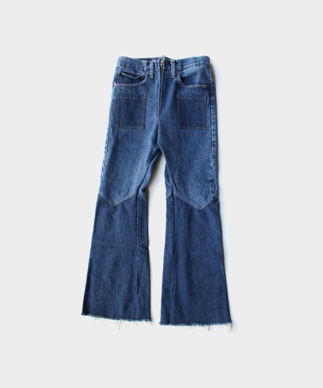 77circa flare pants blue-B