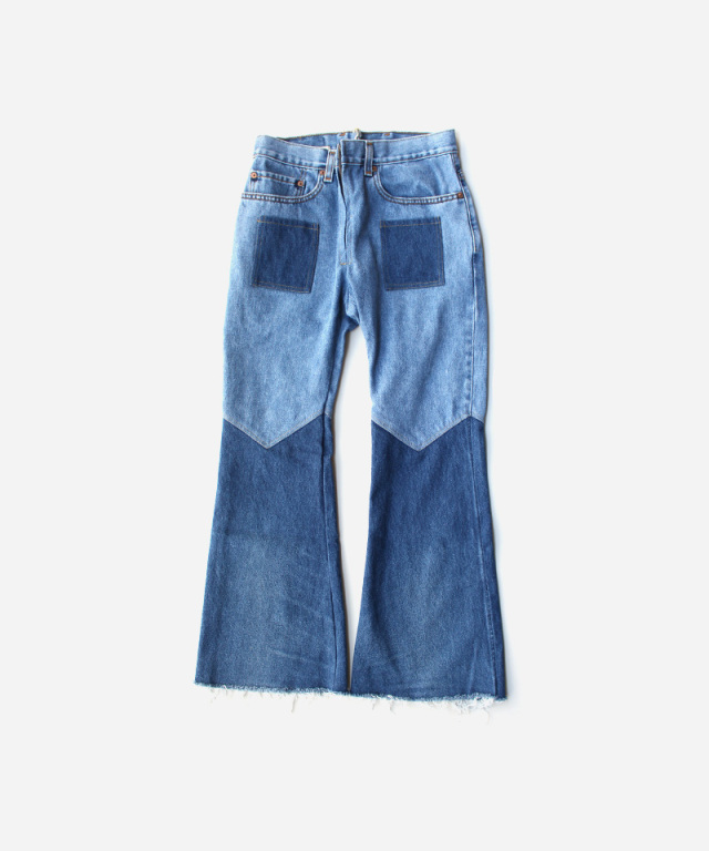 77circa flare pants blue-C