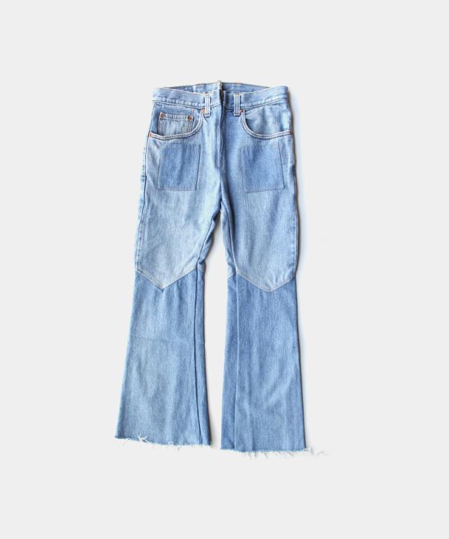 77circa flare pants blue-D