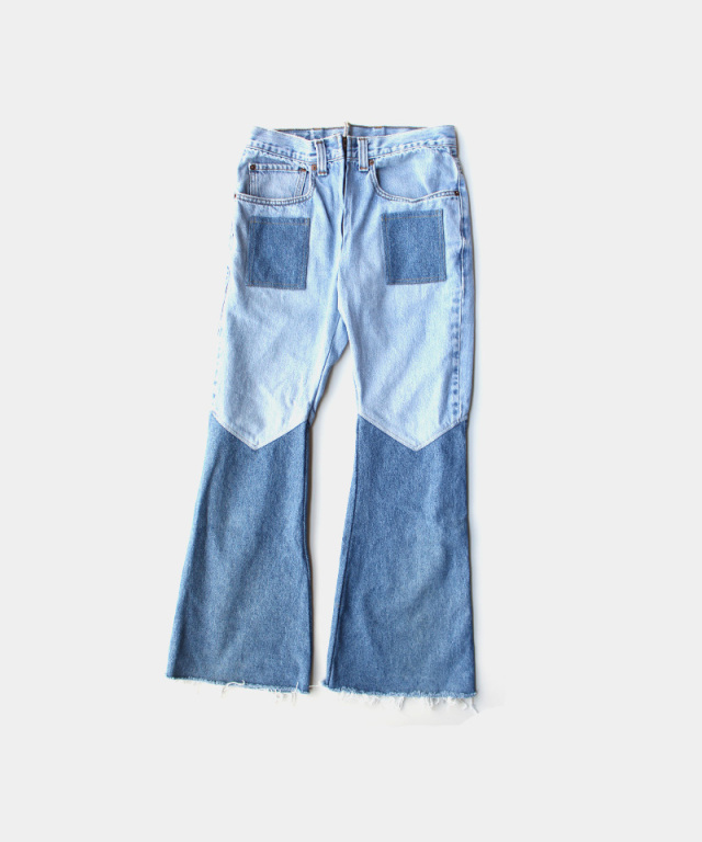 77circa flare pants blue-E