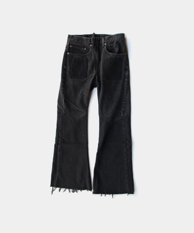 77circa flare pants black-B