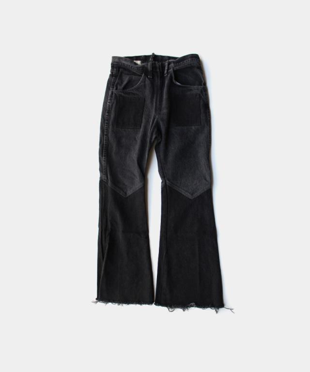 77circa flare pants black-C
