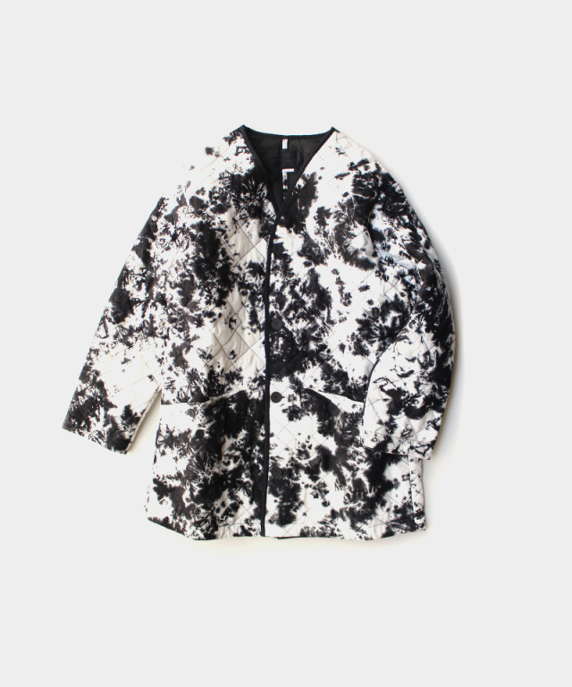 EASY TO WEAR CANVAS QUILT-SMOG BLACK