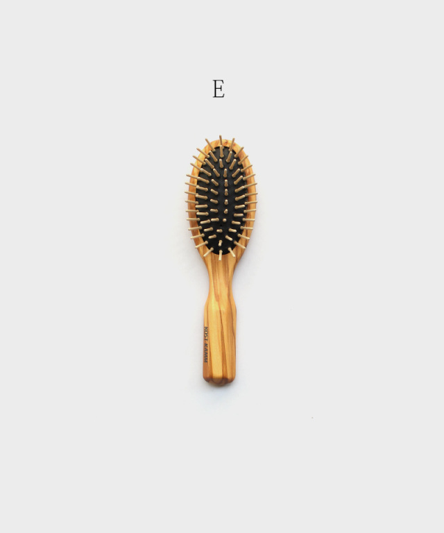 KOST KAMM Wooden brush Olive Wood / straight tacks / 7 rows / 11.5cm D