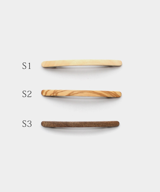 KOST KAMM Hair clip Natural wood / extra slender shape / 10cm S