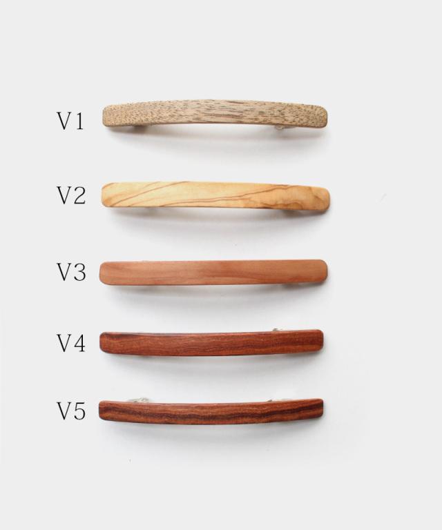 KOST KAMM Hair clip Natural wood / extra slender shape / 6cm V