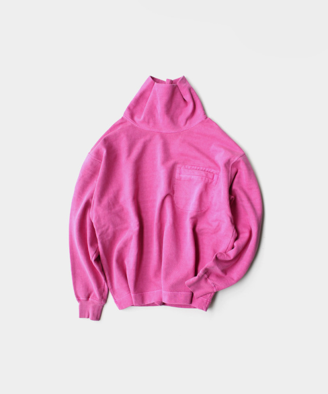 PHINGERIN CLIP NECK SWEAT P/DYE A:PINK