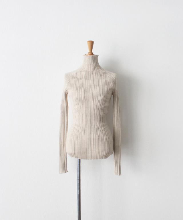WANDERUNG Wool Ribbed Pullover クリーム