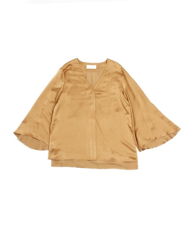 mame Suede Touch Silk Shirt