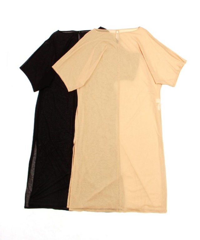 mame Cotton Jersey See‐Through Dress