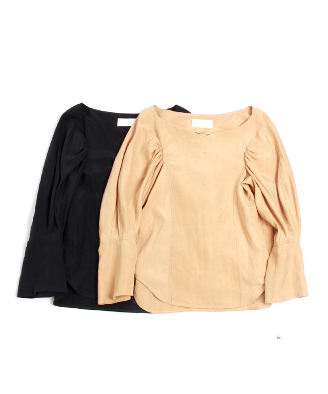 mame Silk Hemp Volume Sleeves Tops