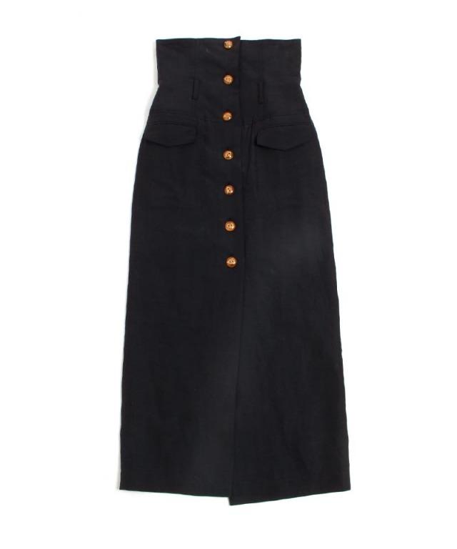 mame Silk Hemp High Waist Skirt