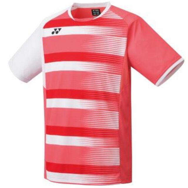 ヨネックス MEN ゲームシャツ(フィットスタイル)  カラー:コーラルレッド(475)  品番:10394