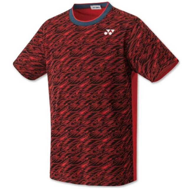 ヨネックス UNI ゲームシャツ(フィットスタイル) カラー:サンセットレッド(496) 品番:10413