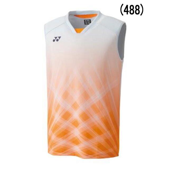 ヨネックス MEN ゲームシャツ(ノースリーブ)    カラー:サンシャインオレンジ(488)   品番:10420