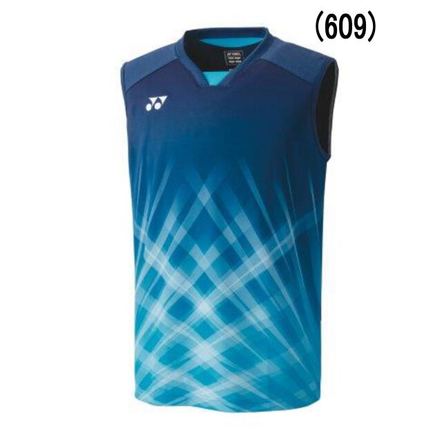 ヨネックス MEN ゲームシャツ(ノースリーブ)    カラー:ナイトスカイ(609)   品番:10420