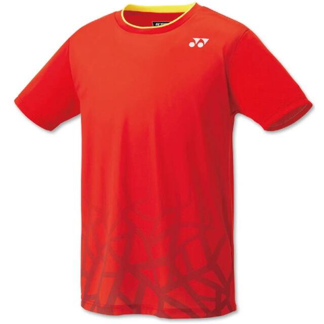 ヨネックス UNI ゲームシャツ(フィットスタイル) カラー:サンセットレッド(496) 品番:10427
