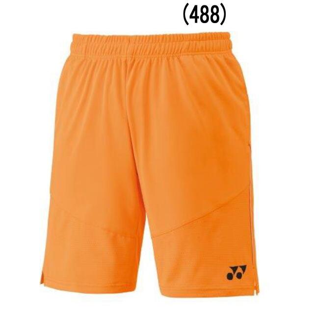 ヨネックス MEN ニットハーフパンツ  カラー:サンシャインオレンジ(488)   品番:15105