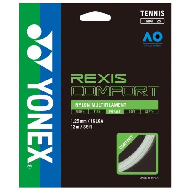 YONEX テニスストリング REXIS COMFORT 125 ゲージ:1.25mm 品番:TGRCF125